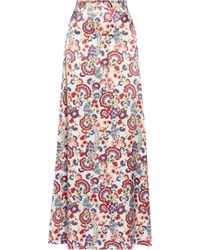 Alice By Temperley - Lou Lou Floral-Print Satin Maxi Skirt - Lyst