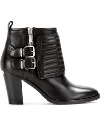 Burberry Brit Hirshel Leather Ankle Boots - Lyst