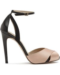 Reiss Ankle Strap Sandals - Cece Cross Front High Heel black - Lyst