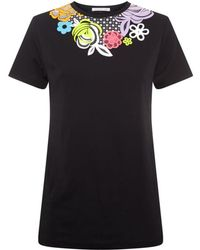 Christopher Kane Multi Floral Motif T-shirt - Lyst