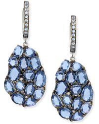Rina Limor - Wavy Sapphire Drop Earrings - Lyst