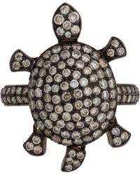 Munnu - Diamond Turtle Ring - Lyst