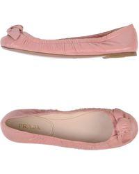 Prada Ballet Flats - Lyst