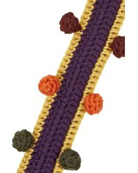 M Missoni Bobbletrimmed Stretchwool Belt - Lyst