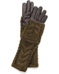 Club Monaco Amelia Gloves - Black Olive - Lyst