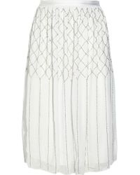 Needle & Thread Tapestry Embellished Crepe Maxi Dress white - Lyst