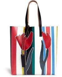 Marni Tulip Print Canvas Tote - Lyst