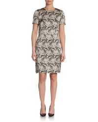 Stella McCartney Silk Lace Print Dress - Lyst