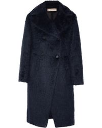 Marni Brushed Wool and Alpaca Blend Coat - Lyst
