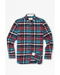 French Connection Felted Flannel Shirt - Lyst