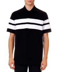 Givenchy Double-Stripe Polo Shirt - Lyst
