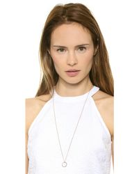 Monica Rich Kosann   Love Diamond Ring Charm - White Gold/clear   Lyst
