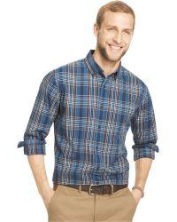 G.H.BASS - G.H. Rock River Textured Checked Plaid Shirt - Lyst