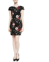 French Connection Gardini Floral-print Sateen Dress - Lyst