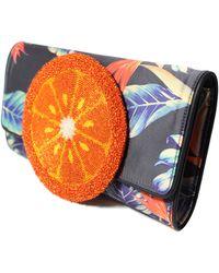 Sarah's Bag Orange 70S Clutch blue - Lyst
