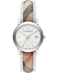 Burberry Unisex Swiss The City Haymarket Strap Watch 34mm - Lyst
