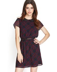 Forever 21 Plaid Peter Pan Collar Dress - Lyst