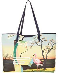 Mary Katrantzou Melina Tote Flamingo - Lyst