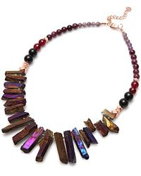 Nakamol - Rez Crystal Necklace-purple - Lyst