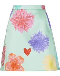 Topshop Limited Edition Floral Heart Aline Skirt - Lyst