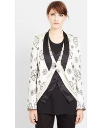 Ann Demeulemeester Embroidered Silk Jacket - Lyst