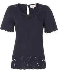 Linea Weekend Cut Out Broderie Blouse - Lyst