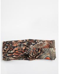 Asos Peacock Hair Turban - Lyst