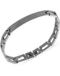 Marc Ecko - Men'S Stainless Steel Square Link Id Bracelet - Lyst