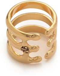 Aurelie Bidermann Esteban Ring Gold - Lyst
