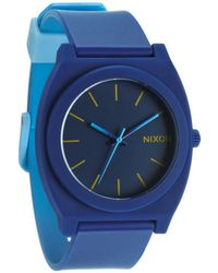 Nixon The Time Teller P Navy Sky Blue Fade Watch - Lyst