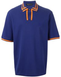 Versace Striped Polo Shirt - Lyst