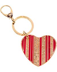 Henri Bendel Stars & Stripes Heart Keyfob - Lyst