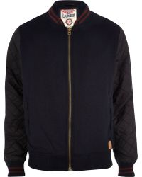 River Island Navy Tokyo Laundry Quilted Bomber Jacket - Lyst