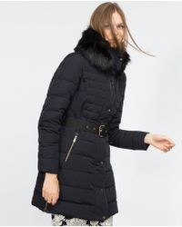 Zara | Quilted Feather Coat | Lyst