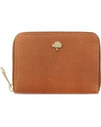 Mulberry Tree Ziparound Natural Vegetable Leather Purse Oak - Lyst