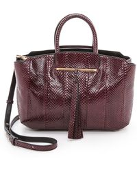 B Brian Atwood Gena Medium East West Tote Crimson - Lyst