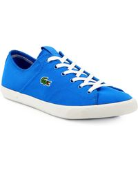 Lacoste Canvas Laceup Sneakers - Lyst