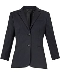 The Row Schoolboy Wool-Crepe Blazer - Lyst