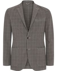 Aquascutum Wallis Check Single Breasted Jacket - Lyst