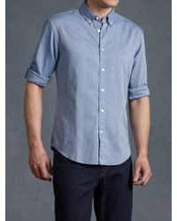John Varvatos Oxford Peace Sign Button Up - Lyst