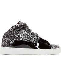 Giuliano Fujiwara Black Printed Leather Date Edition A1 Sneakers - Lyst