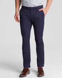 Ted Baker Dalechi Chino Pants With Contrast Detail - Slim Fit - Bloomingdale'S Exclusive - Lyst