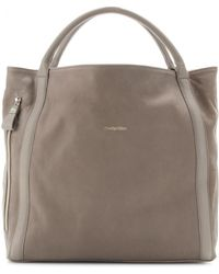 See By Chloé Leather Tote gray - Lyst