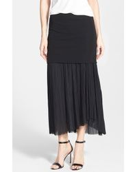 Elie Tahari Women'S 'Opal' Pleat Detail Maxi Skirt - Lyst