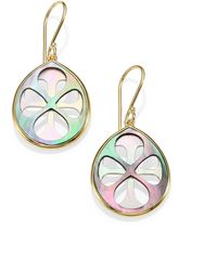 Ippolita Polished Rock Candy Black Shell Motherofpearl 18k Yellow Gold Drop Earrings - Lyst