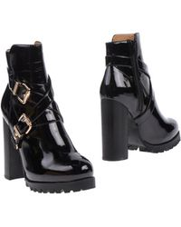 Jeffrey Campbell Black Ankle Boots - Lyst