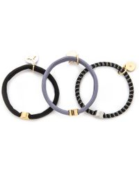Marc By Marc Jacobs Satellite Charm Cluster Pony Holders - Black Multi - Lyst