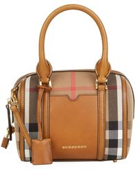 Burberry Small House Check Alchester Bag - Lyst