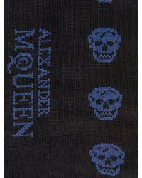 Alexander McQueen Skull-print Cotton-blend Socks - Lyst