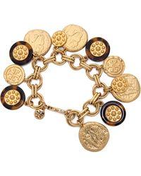 Tory Burch Shiloh Charm Bracelet - Tortoisebrushed Warm Gold - Lyst